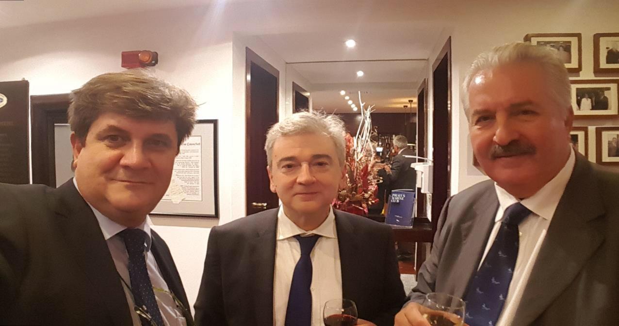 Από αριστερά κ. Γ.Ξηραδάκης, κ. Σ.Παντελιάς, κ. Ν. Βουγιούκας