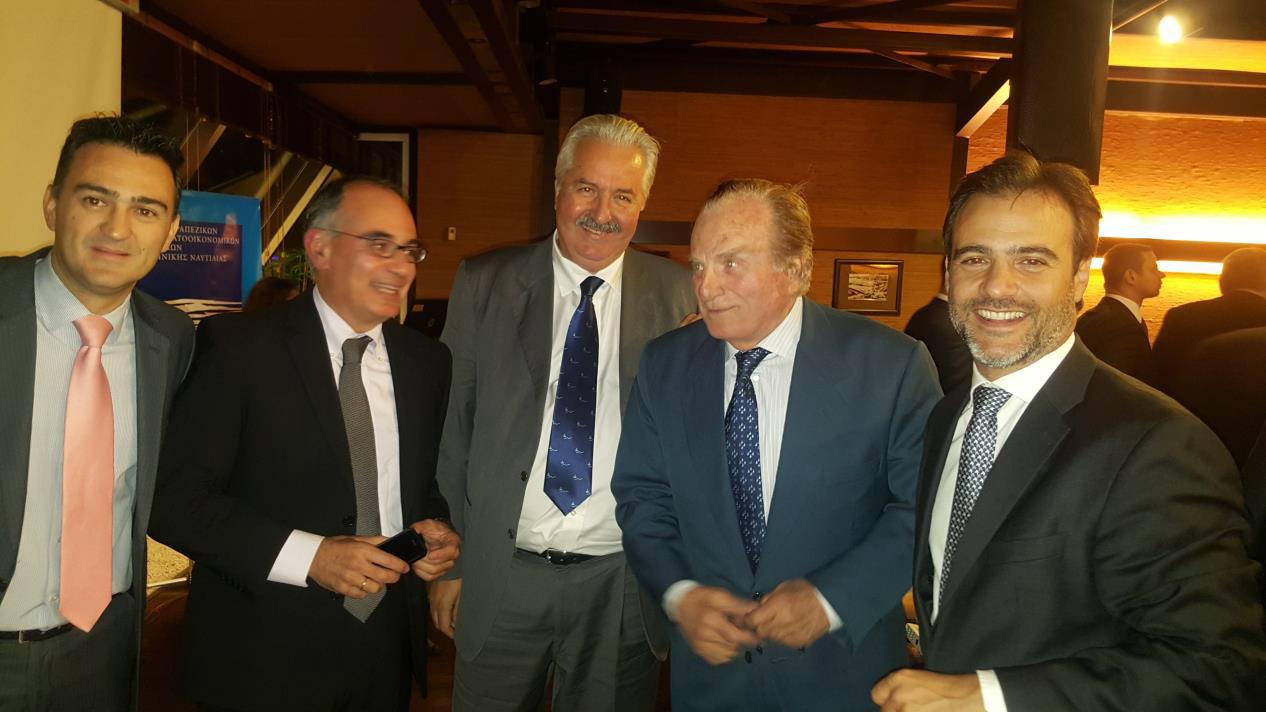 Από αριστερά κ. Κ.Οικονόμου, κ. Β. Μαντζαβίνος, κ. Ν. Βουγιούκας, κ. Ε.Μαλτέζος, κ. Γ.Λάιος
