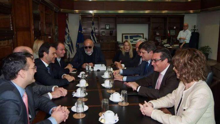 Συνάντηση Εργασίας του Διοικητικού Συμβουλίου της Ένωσης με τον Υπουργό Ναυτιλίας και Νησιωτικής Πολιτικής, κ. Παναγιώτη Κουρουμπλή
